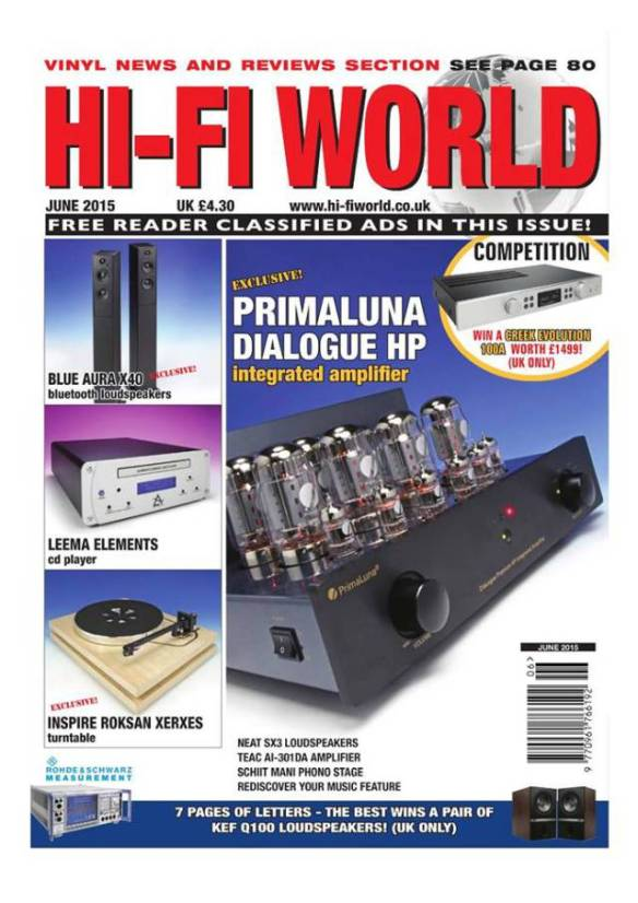 PrimaLuna HP Amplifier Hifi-World magazine